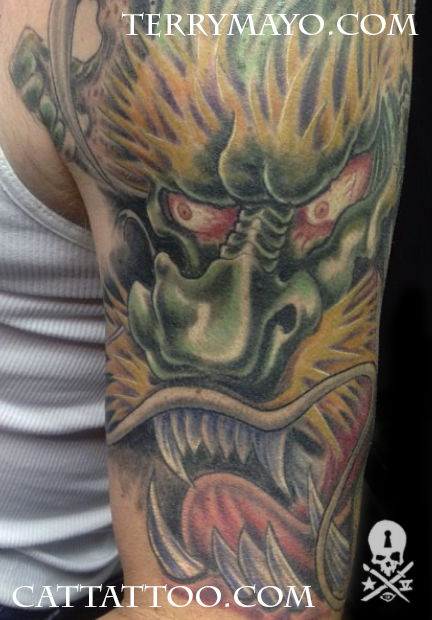 Tattoos - Green Dragon - 93700